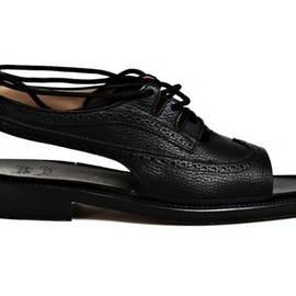 SUNSEA  -  OPEN TOE BROGUES SHOES