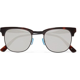 Westward Leaning - Vanguard 17 square-frame acetate and metal mirrored sunglasses