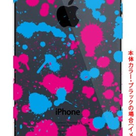 SECOND SKIN - DRIP シアン×ピンク (クリア) by ROTM / for iPhone 5/SoftBank