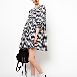 asos - The WhitePepper Smock Dress in Gingham Check