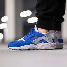 NIKE - Nike Air Huarache Run PRM (Varsity Royal / Wolf Grey - Cool Grey)