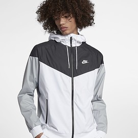 Nike - Nike Sportswear Windrunner Men's Jacket White/Black/Wolf Grey/White