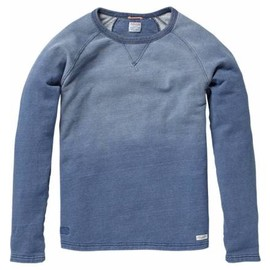 Scotch & Soda - CLASSIC STYLED INDIGO CREW NECK SWEATER