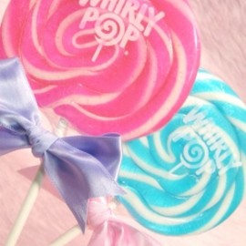 "WHIRLY POP - ""WHIRLY POP"" Lollipop Candy(PINK&BLUE 2本set)"
