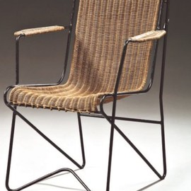 Wire Furniture Suite / barrel back chair