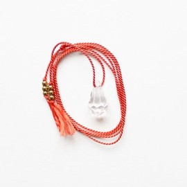 the vamoose - Silk Cord and Crystal Necklace