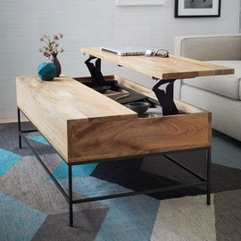 west elm - Rustic Storage Coffee Table - Raw Mango