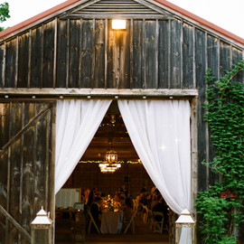 Green Wedding Shoes - barn reception