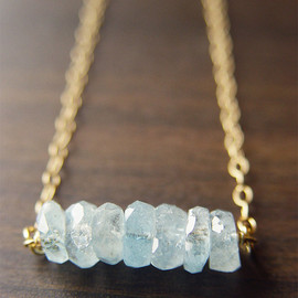 Friedasophie - Aquamarine Nugget Gold Necklace