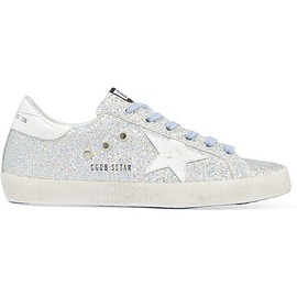 Golden Goose Deluxe Brand - Super Star glittered distressed leather sneakers