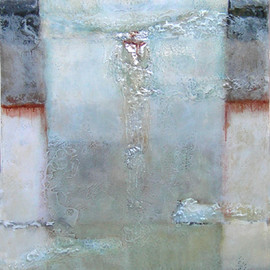 Sheila Giolitti - Between Heaven and Earth, mixed media on canvas