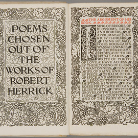 edited by F.S. Elis - Poems chosen out of the works of Robert Herrick, Kelmscott Press, 1895