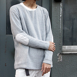 vendor THINGS - COTTON BOAT NECK LOOSE SWEATER