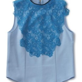 TOGA PULLA - Nylon Keysey Top (lt blue)