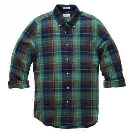 Gant Rugger - Indigo Oxford Check Hugger Original Botton Down