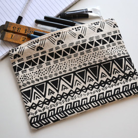 Charlie and the Fox - Aztec illustration pencil case
