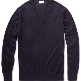 BRIONI - CASHMERE AND SILK-BLEND V-NECK SWEATER
