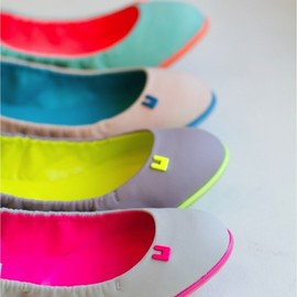 flat neon shoes