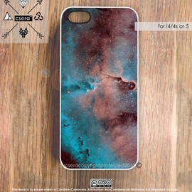 bycsera - Galaxy iPhone 5 Case, Nebula iPhone 5 Case, Galaxy iPhone 4 Case, Silicone Rubber iPhone Case, Plastic iPhone Case, Galaxy iPhone 4S Case