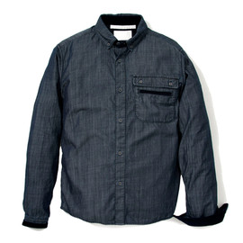 White Mountaineering - GIZA COTTON DENIM DOUBLE FRONT POCKET SHIRT