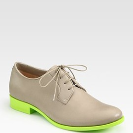 JIL SANDER - Leather Contrast Lace-Up Oxfords