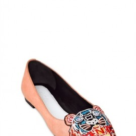 KENZO - 2013/AW■10MM SUEDE TIGER FLATS ROSE