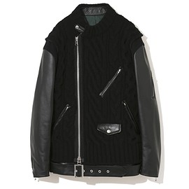 UNDERCOVER, sacai - 30th Anniversary Leather sleeve down jacket  Edited by  sacai UCZ9207