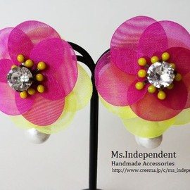 アクセサリーデザイナー Ms.Independent - 【2way】Samantha*pink&yellow