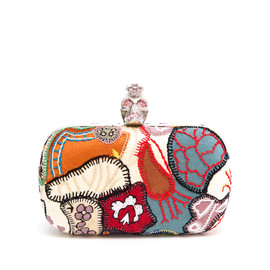 Alexander McQueen - Embroidered Patchwork Box Clutch