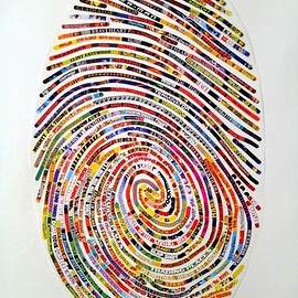 Cheryl Sorg - Unique Thumbprint Pattern