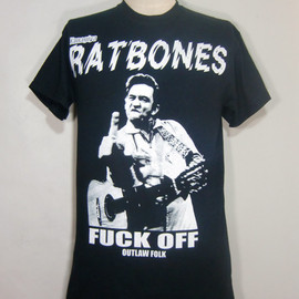 柳家商店 - 柳家睦& The Rat Bones Johnny Cash Tシャツ