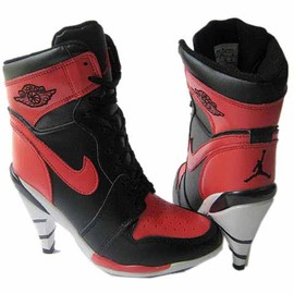 NIKE - Nike 1 Air Jordan Heels For Women Black Red