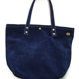 SUPERIOR LABOR - 【SUPERIOR LABOR×MIRROR OF Shinzone】SUEDE TOTE BAG navy