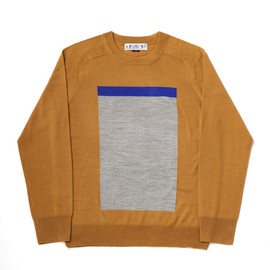 TRI COLOR V-NECK SWEATER