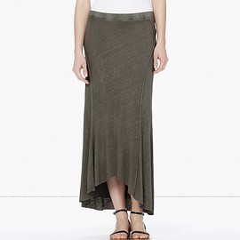 JAMES PERSE - LINEN COTTON ELLIPSE SKIRT - ONLINE EXCLUSIVE
