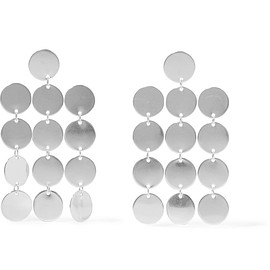 Saskia Diez - Paillettes Chandelier silver earrings