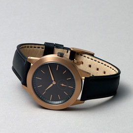 Uniform Wares - 351 Series (PVD Rose Gold / Black Leather)