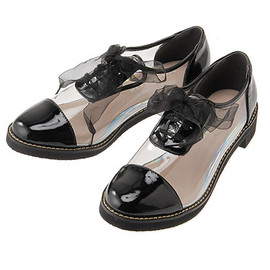 MERCURYDUO - MERCURYDUO lace-up shoes clear
