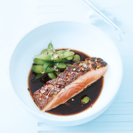 donna hay - crispy skin salmon with chilli salt