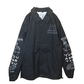OMIYAGE - POSITIVE GRAFFITI COACH JACKET (BLACK)