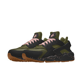 NIKE, Nike By You - Air Huarache By You - Olive Canvas/Black/Storm Pink/Gum