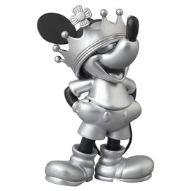 MEDICOM TOY - UDF ROEN collection MICKEY MOUSE (CROWN Ver.) BLACK & SILVER