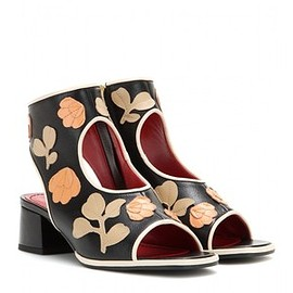 Marni - Marni Embellished Leather Sandals