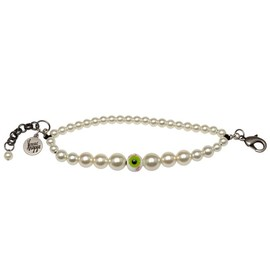 "VENESSA ARIZAGA - ""Watching You"" pearl&eye bracelet"
