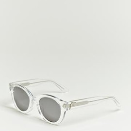 FACETASM - Facetasm Men's Clear Frame Metallic Sunglasses