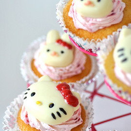 Hello Kitty Lemon Raspberry Cupcake