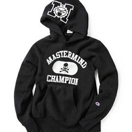 Champion×mastermind JAPAN - mastermind JAPAN(マスターマインド・ジャパン)のREVERSE WEAVE PULLOVER HOODED SWEAT Ver.B[Champion×mastermind JAPAN](パーカー)|ブラック