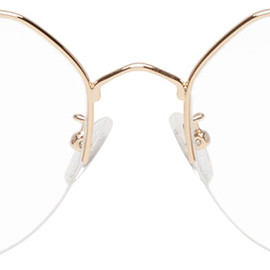 McQ Alexander McQueen - Gold Hexagonal Glasses 201114F004104