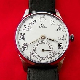 OMEGA - Vintage Omega White Kama Sutra Erotic Dial Manual Wind