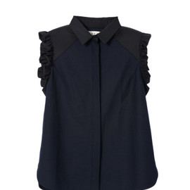 Pre-Fall2014 Double Face Yarn Dyed Waistcoat